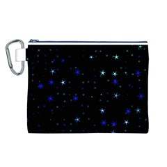 Awesome Allover Stars 02 Canvas Cosmetic Bag (L)