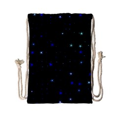 Awesome Allover Stars 02 Drawstring Bag (small) by MoreColorsinLife