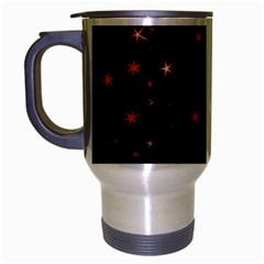 Awesome Allover Stars 02b Travel Mug (silver Gray) by MoreColorsinLife