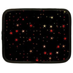 Awesome Allover Stars 02b Netbook Case (large) by MoreColorsinLife