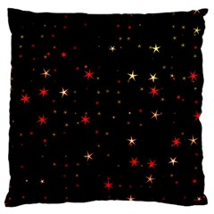 Awesome Allover Stars 02b Large Cushion Case (two Sides) by MoreColorsinLife