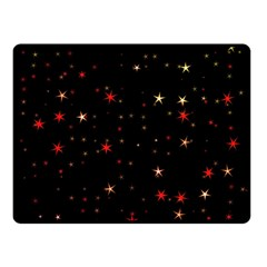 Awesome Allover Stars 02b Double Sided Fleece Blanket (small)  by MoreColorsinLife