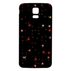 Awesome Allover Stars 02b Samsung Galaxy S5 Back Case (white) by MoreColorsinLife