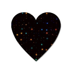 Awesome Allover Stars 02e Heart Magnet by MoreColorsinLife