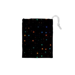 Awesome Allover Stars 02e Drawstring Pouches (xs)  by MoreColorsinLife