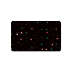 Awesome Allover Stars 02f Magnet (name Card) by MoreColorsinLife