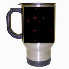Awesome Allover Stars 02f Travel Mug (silver Gray) by MoreColorsinLife