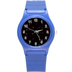 Awesome Allover Stars 02f Round Plastic Sport Watch (s) by MoreColorsinLife