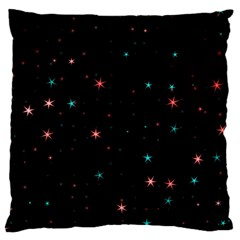 Awesome Allover Stars 02f Large Cushion Case (one Side) by MoreColorsinLife