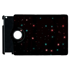 Awesome Allover Stars 02f Apple Ipad 2 Flip 360 Case by MoreColorsinLife