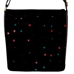 Awesome Allover Stars 02f Flap Messenger Bag (s) by MoreColorsinLife