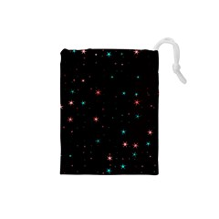Awesome Allover Stars 02f Drawstring Pouches (small)  by MoreColorsinLife