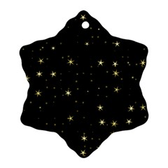 Awesome Allover Stars 02a Ornament (snowflake) by MoreColorsinLife