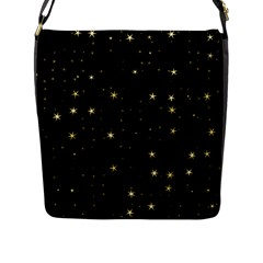 Awesome Allover Stars 02a Flap Messenger Bag (l)  by MoreColorsinLife