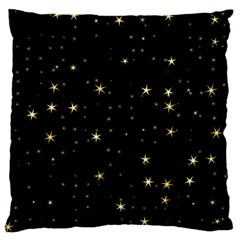 Awesome Allover Stars 02a Large Flano Cushion Case (one Side) by MoreColorsinLife