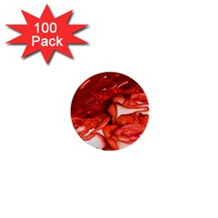 Nice Rose With Water 1  Mini Buttons (100 Pack)