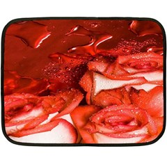 Nice Rose With Water Fleece Blanket (mini) by BangZart