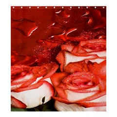 Nice Rose With Water Shower Curtain 66  X 72  (large)  by BangZart
