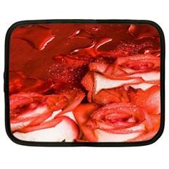 Nice Rose With Water Netbook Case (xxl)