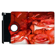 Nice Rose With Water Apple Ipad 2 Flip 360 Case by BangZart