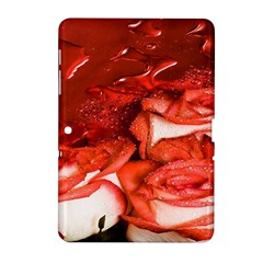 Nice Rose With Water Samsung Galaxy Tab 2 (10 1 ) P5100 Hardshell Case  by BangZart