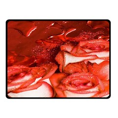 Nice Rose With Water Double Sided Fleece Blanket (small)  by BangZart