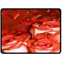 Nice Rose With Water Double Sided Fleece Blanket (large)  by BangZart