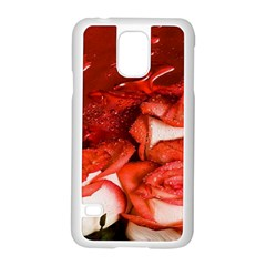 Nice Rose With Water Samsung Galaxy S5 Case (white) by BangZart