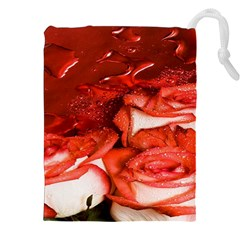 Nice Rose With Water Drawstring Pouches (xxl) by BangZart