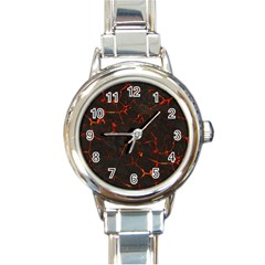 Volcanic Textures Round Italian Charm Watch by BangZart