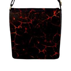 Volcanic Textures Flap Messenger Bag (l)