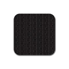 Dark Black Mesh Patterns Rubber Square Coaster (4 Pack)  by BangZart