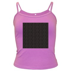 Dark Black Mesh Patterns Dark Spaghetti Tank