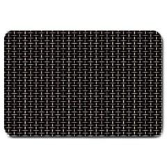 Dark Black Mesh Patterns Large Doormat