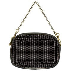 Dark Black Mesh Patterns Chain Purses (one Side)