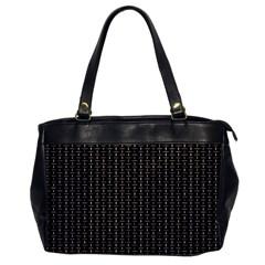 Dark Black Mesh Patterns Office Handbags by BangZart