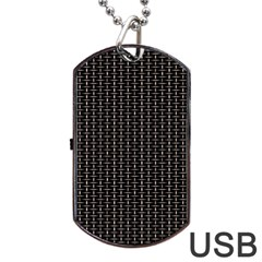 Dark Black Mesh Patterns Dog Tag Usb Flash (two Sides) by BangZart