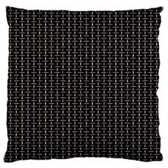 Dark Black Mesh Patterns Large Cushion Case (two Sides) by BangZart