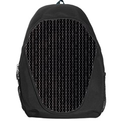 Dark Black Mesh Patterns Backpack Bag