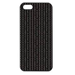 Dark Black Mesh Patterns Apple Iphone 5 Seamless Case (black) by BangZart