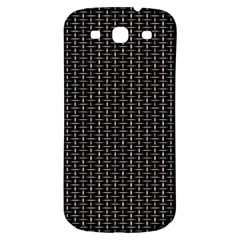 Dark Black Mesh Patterns Samsung Galaxy S3 S Iii Classic Hardshell Back Case by BangZart