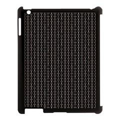 Dark Black Mesh Patterns Apple Ipad 3/4 Case (black) by BangZart