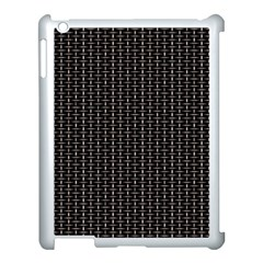 Dark Black Mesh Patterns Apple Ipad 3/4 Case (white)