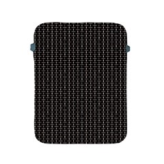 Dark Black Mesh Patterns Apple Ipad 2/3/4 Protective Soft Cases by BangZart