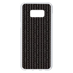 Dark Black Mesh Patterns Samsung Galaxy S8 Plus White Seamless Case