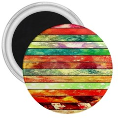 Stripes Color Oil 3  Magnets by BangZart