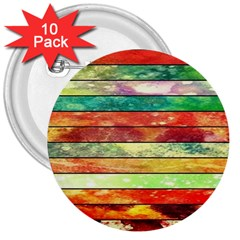 Stripes Color Oil 3  Buttons (10 Pack)  by BangZart