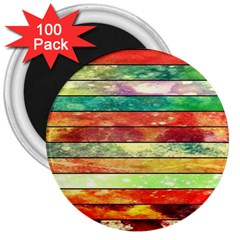 Stripes Color Oil 3  Magnets (100 Pack) by BangZart