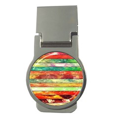 Stripes Color Oil Money Clips (round)  by BangZart