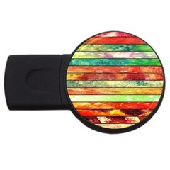 Stripes Color Oil Usb Flash Drive Round (2 Gb) by BangZart